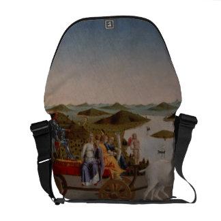 Triumph of Federigo da Montefeltro, Duke of Urbino Messenger Bags