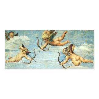 Triumph of Galatea, Angels detail by Raphael 10 Cm X 24 Cm Invitation Card