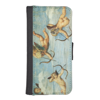 Triumph of Galatea, Angels detail by Raphael iPhone 5 Wallets
