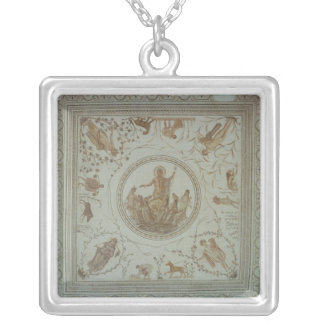 Triumph of Neptune and the Four Seasons Silver Plated Necklace