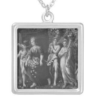 Triumph of Spring Silver Plated Necklace