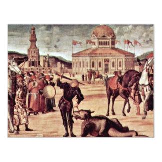 """Triumph Of St. George By Carpaccio Vittore 4.25"""" X 5.5"""" Invitation Card"""