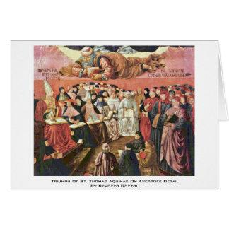 Triumph Of St. Thomas Aquinas On Averroes Detail Greeting Card