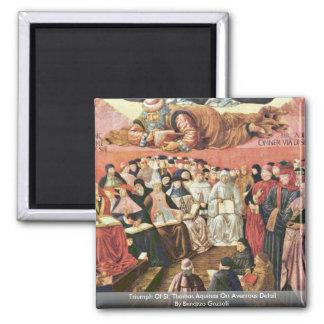 Triumph Of St. Thomas Aquinas On Averroes Detail Square Magnet