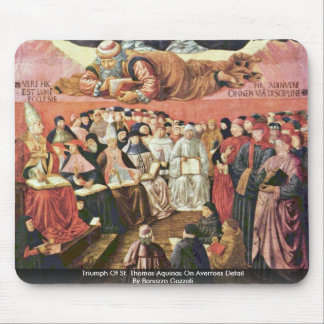 Triumph Of St Thomas Aquinas On Averroes Detail Mousepad