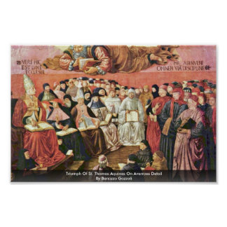 Triumph Of St Thomas Aquinas On Averroes Detail Posters
