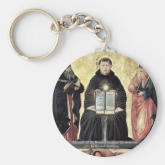 Triumph Of St Thomas Aquinas On Averroes Keychains