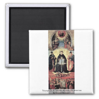 Triumph Of St Thomas Aquinas On Averroes Fridge Magnets