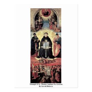 Triumph Of St Thomas Aquinas On Averroes Postcards