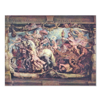 Triumph Of The Church Of Idolatry By Rubens Peter 11 Cm X 14 Cm Invitation Card