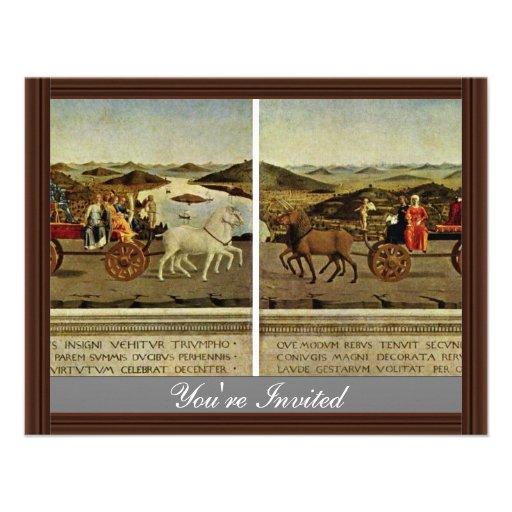 Triumph Of The Duke And Duchess Federico Da Montef Custom Announcement