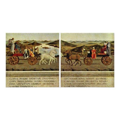 Triumph Of The Duke And Duchess Federico Da Montef Custom Photo Card