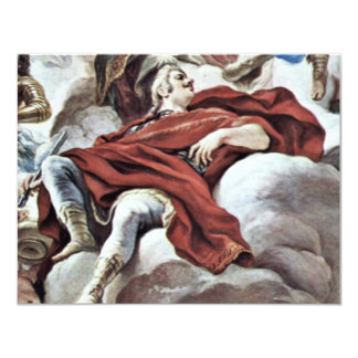 Triumph Of The Medici In The Clouds Of Mount Olymp 11 Cm X 14 Cm Invitation Card