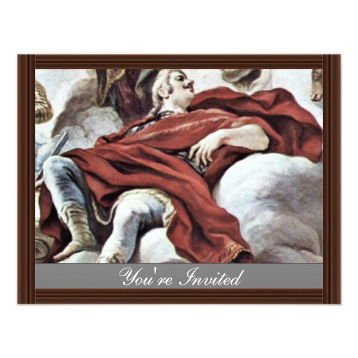Triumph Of The Medici In The Clouds Of Mount Olymp Custom Invitations