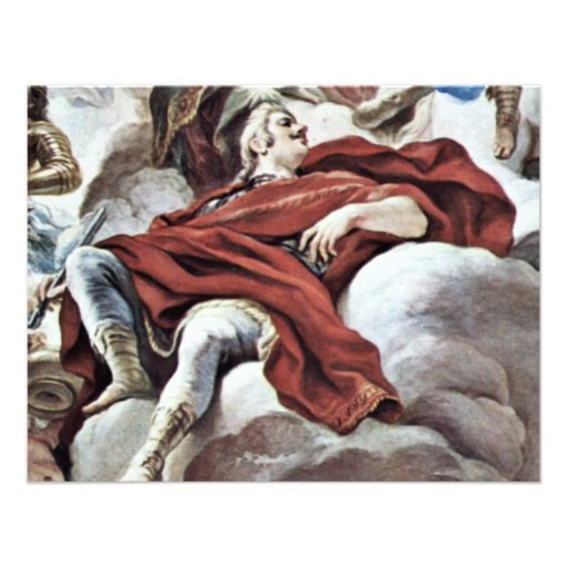 Triumph Of The Medici In The Clouds Of Mount Olymp Custom Invite