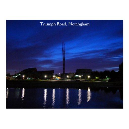 Triumph Road, Nottingham Postcard