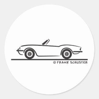 Triumph Spitfire Classic Round Sticker