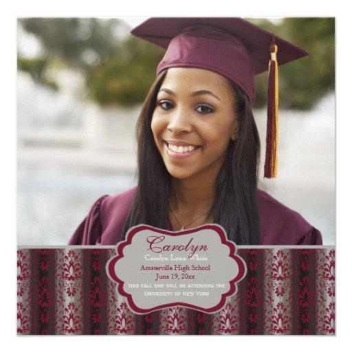 Triumph Square Graduation Photo Invitation