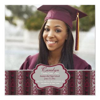 """Triumph Square Graduation Photo Invitation 5.25"""" Square Invitation Card"""