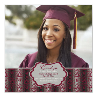 Triumph Square Graduation Photo Invitation