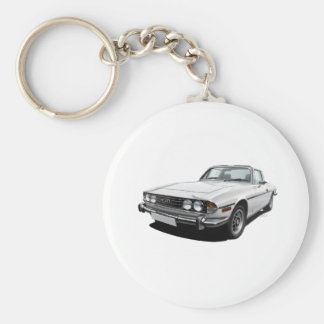 Triumph Stag Basic Round Button Key Ring