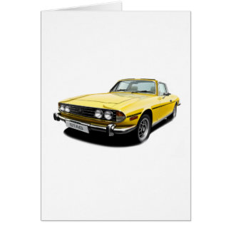 Triumph Stag - Yellow Card