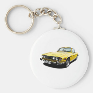 Triumph Stag - Yellow Basic Round Button Key Ring