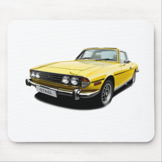 Triumph Stag - Yellow Mouse Mat