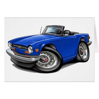 Triumph TR6 Blue Car Greeting Card