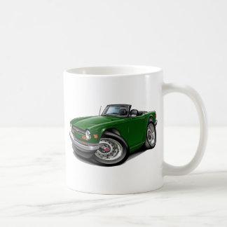 Triumph TR6 Green Car Basic White Mug
