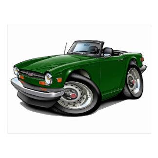 Triumph TR6 Green Car Postcard