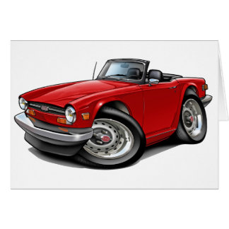 Triumph TR6 Red Car Card