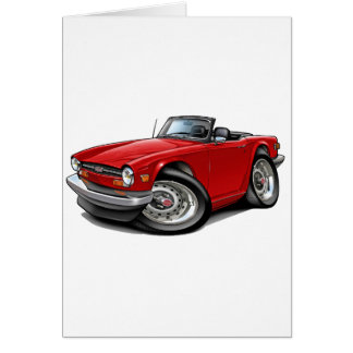 Triumph TR6 Red Car Greeting Cards