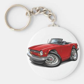 Triumph TR6 Red Car Keychains