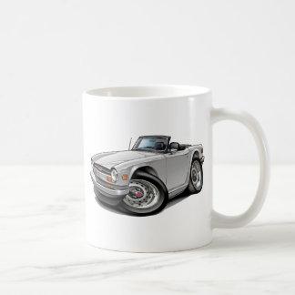 Triumph TR6 White Car Coffee Mugs