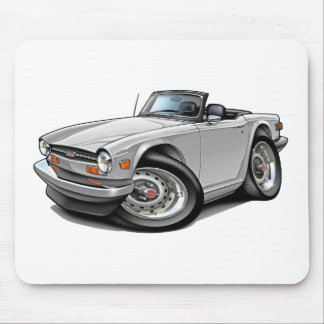 Triumph TR6 White Car Mouse Mat