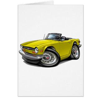 Triumph TR6 Yellow Car Greeting Card