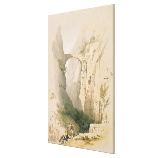 Triumphal Arch crossing the Ravine leading to Petr Canvas Print