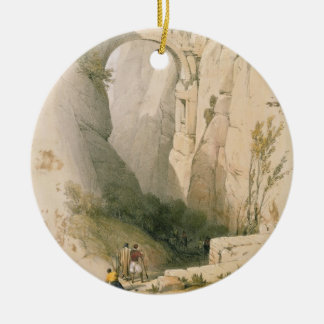 Triumphal Arch crossing the Ravine leading to Petr Round Ceramic Decoration