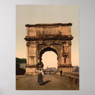 Triumphal Arch of Titus Rome Lazio Italy Posters