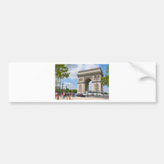 Triumphal Arch on Champs Elysees boulevard in Pari Bumper Sticker