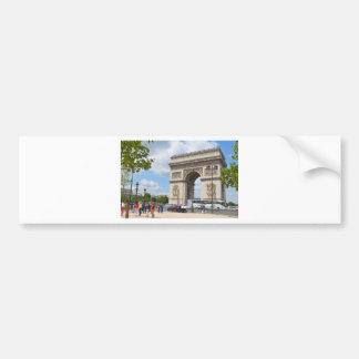 Triumphal Arch on Champs Elysees boulevard in Pari Bumper Sticker