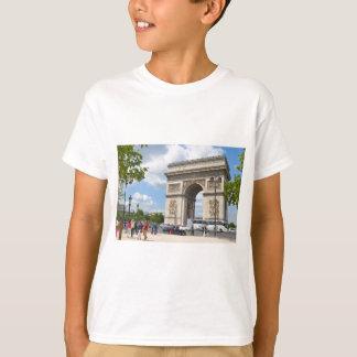 Triumphal Arch on Champs Elysees boulevard in Pari T-Shirt