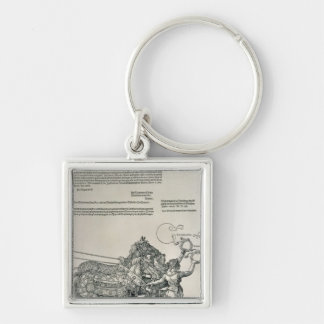 Triumphal Chariot of Emperor Maximilian I Silver-Colored Square Key Ring