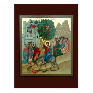 Triumphal Entry into Jerusalem Prayer Card Postcard