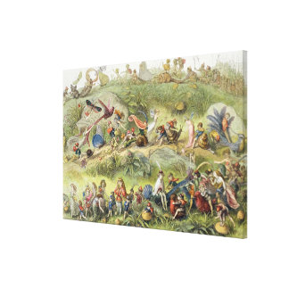 Triumphal March of the Elf-King, illustration from Canvas Print