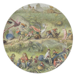 Triumphal March of the Elf-King, illustration from Dinner Plates