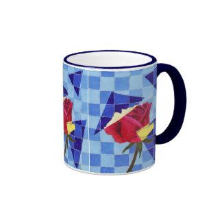 Triumphant Rose Ringer Mug