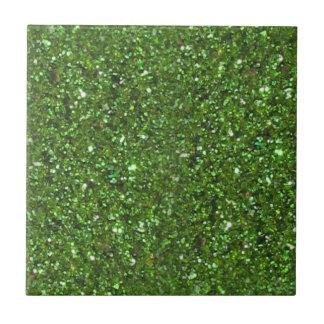 Trivet - GREEN GLITTER ST. PATRICK'S DAY TILE