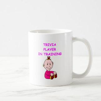 trivia baby basic white mug